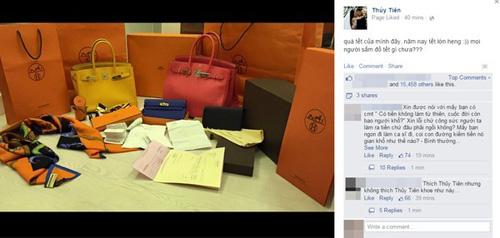 sao việt bị nám đá trên facebook vì khoe hàng hiệu