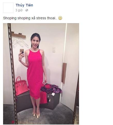 Thủy Tiên xách túi hàng hiệu đi mua sắm cuối năm